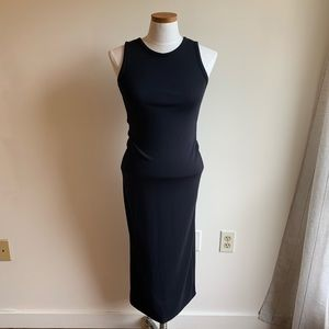 Sleeveless black maxi dress